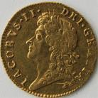 HALF GUINEAS 1687  JAMES II JAMES II LAUREATE BUST S3404 RARE