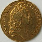 HALF GUINEAS 1695  WILLIAM III WILLIAM III LAUREATE BUST EARLY HARP SCARCE