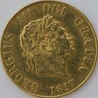 HALF SOVEREIGNS 1817  GEORGE III GEORGE III
