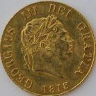 HALF SOVEREIGNS 1818  GEORGE III GEORGE III