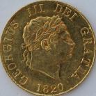 HALF SOVEREIGNS 1820  GEORGE III GEORGE III EF