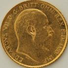 HALF SOVEREIGNS 1908  EDWARD VII SYDNEY SHIELD