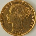 SOVEREIGNS 1857  VICTORIA LONDON SHIELD
