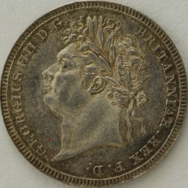 THREEPENCES SILVER 1824  GEORGE IV