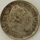 SILVER THREEHALFPENCE 1835  WILLIAM IV