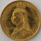 TWO POUNDS (GOLD) 1887  VICTORIA VICTORIA JUB. HEAD