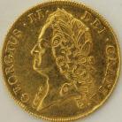 TWO GUINEAS 1740  GEORGE II GEORGE II INTERMEDIATE HEAD S3668