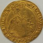 HAMMERED GOLD 1615 -1616 JAMES I Unite. 2nd Coinage. 5th Bust. Half Length Bust With Sceptre. MM Tun.