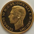 FIVE POUNDS (GOLD) 1937  GEORGE VI GEORGE VI PROOF FDC