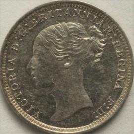 THREEPENCES SILVER 1868  VICTORIA  UNC LUS