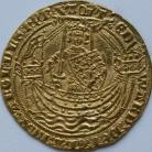 HAMMERED GOLD 1361 -1369 EDWARD III NOBLE 4TH COINAGE TREATY PERIOD CALAIS MINT C IN CENTRE OF REVERSE FLAG AT STERN OF SHIP MM CROSS POTENT NEF