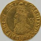HAMMERED GOLD 1636 -1638 CHARLES I UNITE TOWER MINT GROUP D 5TH BUST WITH FALLING LACE COLLAR MM TUN