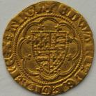 HAMMERED GOLD 1361 -1369 EDWARD III QUARTER NOBLE TREATY PERIOD LIS IN CENTRE MM CROSS 3(4) GVF