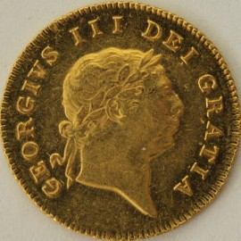 HALF GUINEAS 1809  GEORGE III GEORGE III 7TH HEAD GVF/NEF