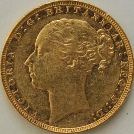 SOVEREIGNS 1879  VICTORIA LONDON ST GEORGE NEF