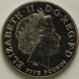 FIVE POUNDS 2004  ELIZABETH II  ENTENTE CORDIAL SCARCE BU