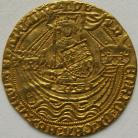 HAMMERED GOLD 1422 -1430 HENRY VI NOBLE 1ST REIGN ANNULET ISSUE BY SWORD ARM AND IN ONE SPANDREL ON REVERSE MM CROSS CROSSLET VERY SCARCE VF