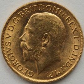 SOVEREIGNS 1917  GEORGE V LONDON EXTREMELY RARE UNC LUS