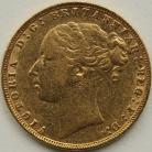 SOVEREIGNS 1884  VICTORIA LONDON ST GEORGE GVF
