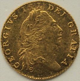 HALF GUINEAS 1801  GEORGE III GEORGE III 6TH HEAD GEF