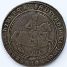 CROWNS 1552  EDWARD VI FINE SILVER ISSUE KING ON HORSEBACK  WITH DATE BELOW HORSE. MM TUN S2478 EDGE FLAWS