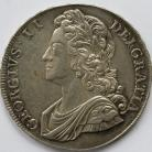 CROWNS 1741  GEORGE II YOUNG HEAD ROSES