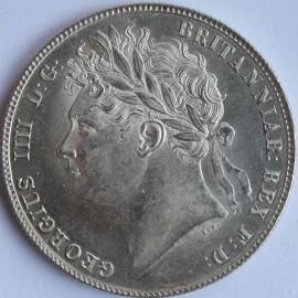 HALF CROWNS 1820  GEORGE IV LAUREATE HEAD