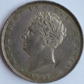 HALF CROWNS 1825  GEORGE IV 2ND HEAD 3RD REVERSE