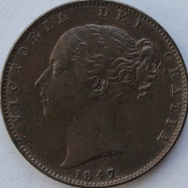 FARTHINGS 1847  VICTORIA