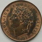 THIRD FARTHINGS 1827  GEORGE IV